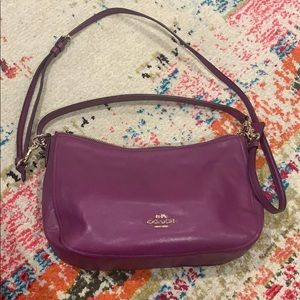 Purple medium size Coach crossbody bag
